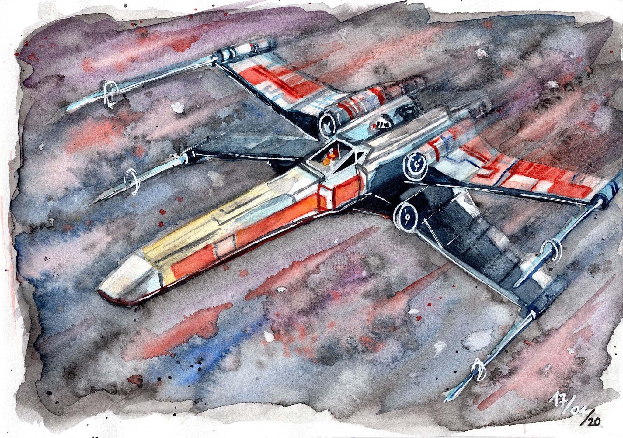 X-Wing Aquarell