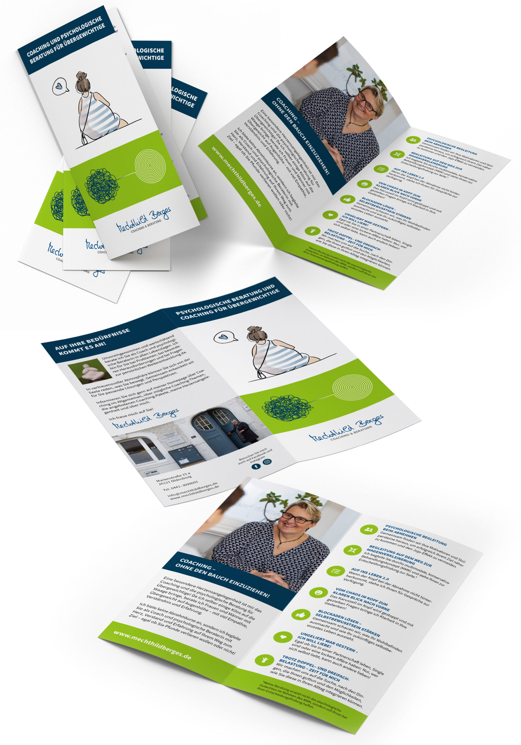 Design sozialer Sektor Mechthild Berges Coaching & Beratung Oldenburg – Flyer