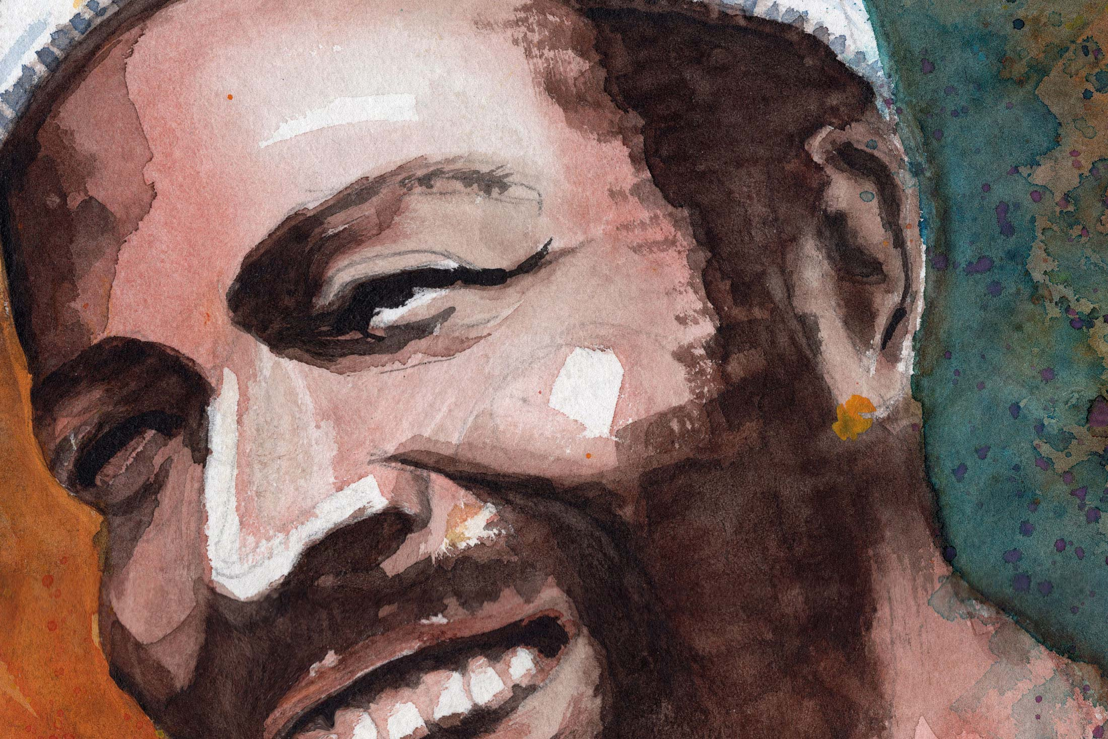 Marvin Gaye Aquarell